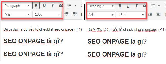 So sánh thẻ heading và căn chỉnh kích thước chữ
