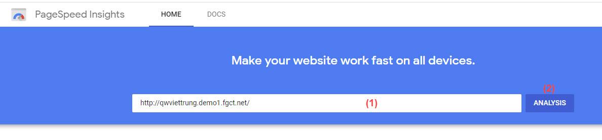 Bạn sử dụng công cụ do chính Google cung cấp